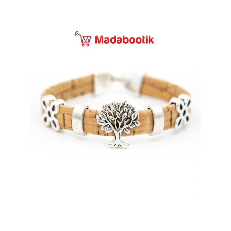 bracelet arbre de vie en liège pour femme