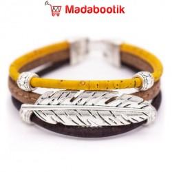 Bracelet en liège bicolore...