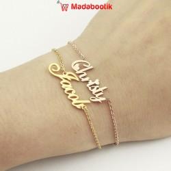 Bracelet prénom plaqué or...