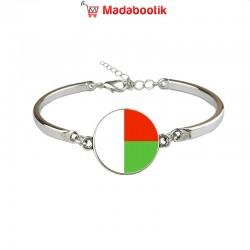 Bracelet argenté drapeau...