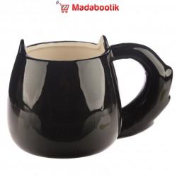 Tasse décorée d'une mouette et avec anse mouette