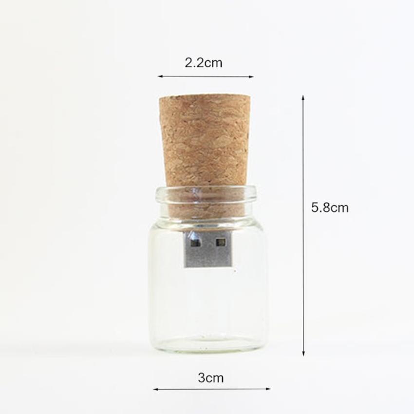 clé usb bouteille à la mer dimensions